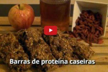 barras de proteína caseiras