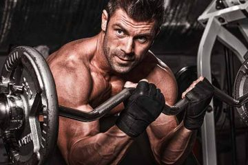 curl de bíceps com barra