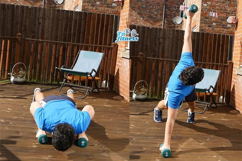 flexão com rotação
