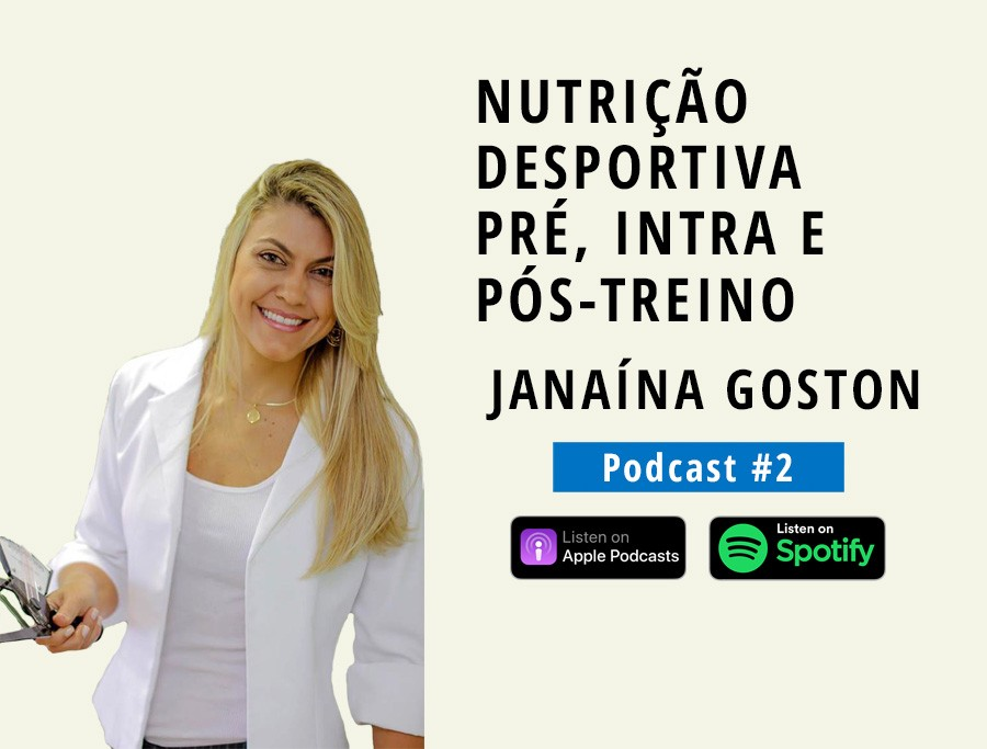 Nutrição Desportiva pré, intra e pós-treino | Com JANAÍNA GOSTON (Podcast #2)